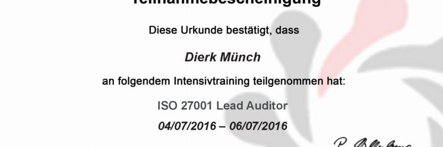 Fortbildung ISO 27001 Lead Auditor