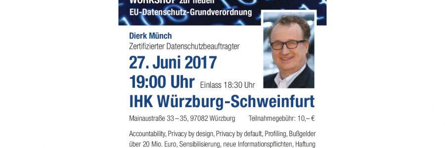 Workshop zur neuen EU Datenschutz-Grundverordnung