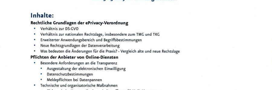 Die E-Privacy Verordnung